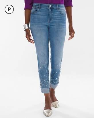 Petite Scattered Stone Boyfriend Jeans