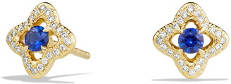David Yurman 'Venetian Quatrefoil' Earrings with Precious Stones and Diamonds in 18K Gold