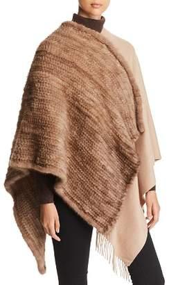 Max Mara Saetta Mink Fur & Cashmere Wrap
