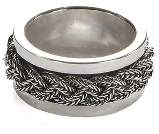Emanuele Bicocchi Sterling Silver Chain Ring