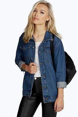 Damen Jodie übergroße Jeansjacke im Boyfriend-Stil