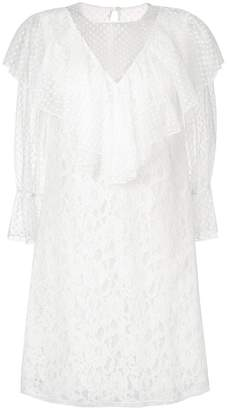 See by Chloe ruffle trim lace dress