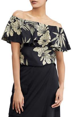 Polo Ralph Lauren Floral Off-The-Shoulder Top