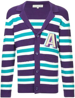 A(Lefrude)E v-neck striped cardigan
