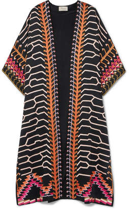 Temperley London Traveller Embroidered Crepe Jacket - Black