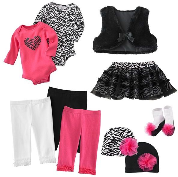 Baby Starters zebra heart separates - baby