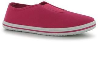 Slazenger Kids Canvas Slip On Pumps Childs Shoes Lightweight Casual Footwear