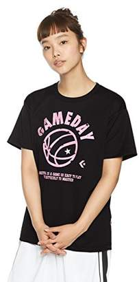 Converse (コンバース) - (コンバース) CONVERSE バスケットボールウェア ウィメンズ プリントTシャツ 18SS CB381305 [レディース] CB381305 1961 ブラック/ピンク M