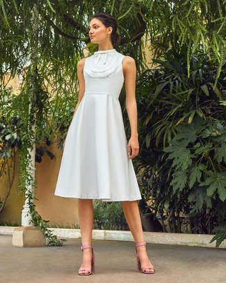 Ted Baker BRIIOLA Lace trim bib cotton dress
