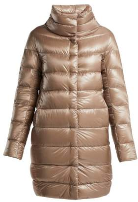 Herno - Dora Mid Length Light Weight Down Jacket - Womens - Beige