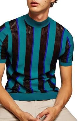 Topman Mesh Stripe T-Shirt