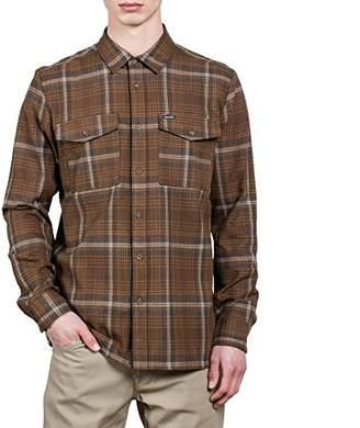 Volcom Men's Bodhi Double Pocket Flannel Long Sleeve Shirt