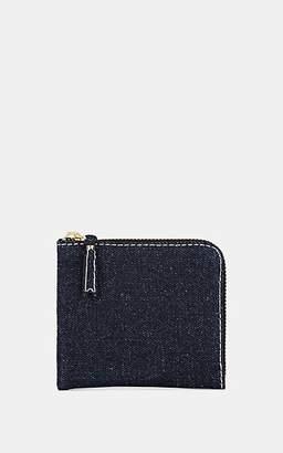 Comme des Garcons Men's Denim Half-Zip Wallet - Blue