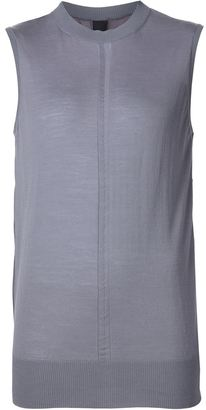 Vera Wang contrast panel sleeveless jumper $795 thestylecure.com