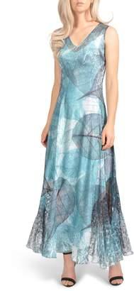 Komarov Lace-Up Back Maxi Dress