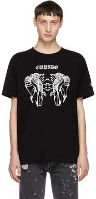 Marcelo Burlon County of Milan Black Cupido Tattoo T-Shirt