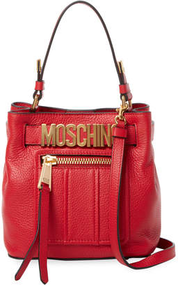 Moschino Women's Snap Leather Tote Bag