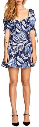Alice McCall Paisley Tie-Detail Mini Dress