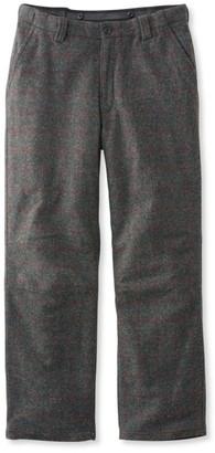L.L. Bean L.L.Bean Men's Maine Guide Wool Pants with PrimaLoft, Plaid