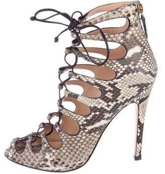 Giambattista Valli Snakeskin Caged Sandals