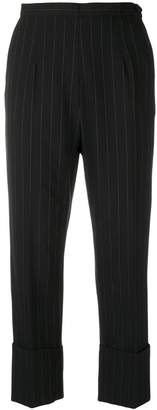 I'M Isola Marras pinstripe cropped trousers