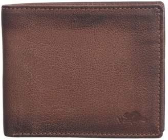 Roots 73 Men's Slim Leather RFID Passcase Wallet