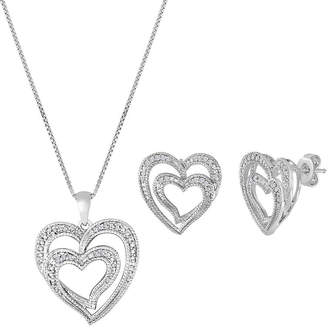 JCPenney FINE JEWELRY ForeverMine 1/10 CT. T.W. Diamond Heart Necklace & Earring Set