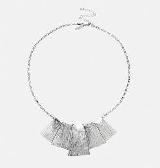 Avenue Textured Rectangle Bar Necklace