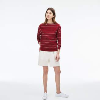 Lacoste Women's Boat Neck Honeycomb Sweatshirt