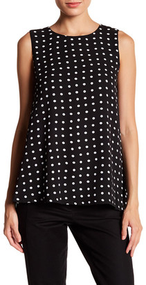 Adrienne Vittadini Sleeveless Polka Dot Blouse $58 thestylecure.com