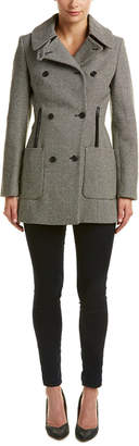 Karen Millen Tailored Reefer Wool Coat