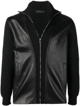 Prada zip-up leather jacket