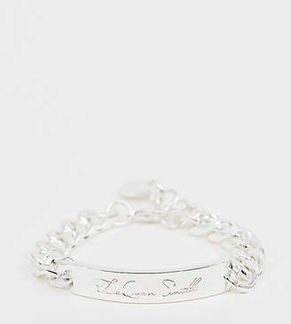Asos Design DESIGN x LaQuan Smith chain ID bracelet