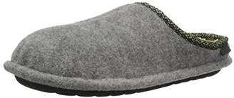 Dearfoams Men's Felted Clog with Woven Trim Slipper