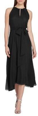 Tahari Arthur S. Levine Swiss Dot Midi Dress
