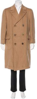 Oxxford Clothes Double-Breasted Camel Hair Coat
