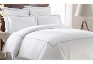 Modern Threads 600 Thread Count 3-Piece Double Marrowing Queen Duvet Set Bedding