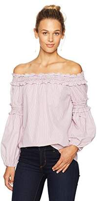 Ella Moon Women's Blakeleigh Striped Off-the-Shoulder Top