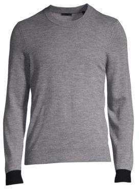 ATM Anthony Thomas Melillo Contrast Cuff Cotton Sweater