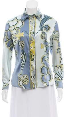 Emilio Pucci Silk Button-Up Top