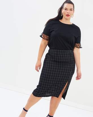 ICONIC EXCLUSIVE - Sandy Split Front Skirt