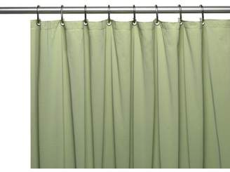 Carnation Home Fashions 3 Gauge Vinyl Shower Curtain Liner w/ Weighted Magnets and Metal Grommets in Sage