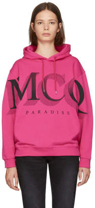 McQ Pink Logo Big Hoodie