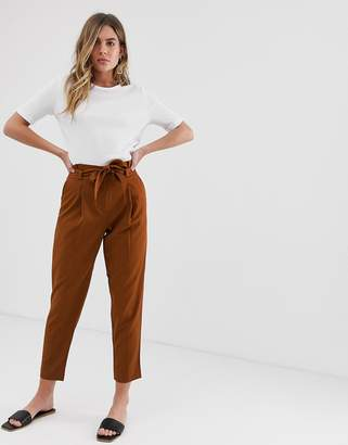 New Look Miller Tie Waist Tapered Pant