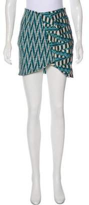 Ronny Kobo Printed Mini Skirt