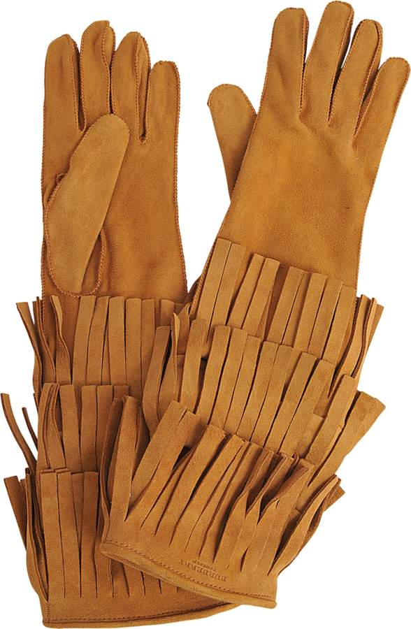 Burberry Long Maureen Gloves With Fringes