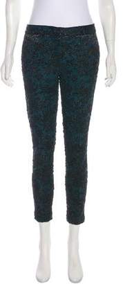 Yigal Azrouel Brocade Mid-Rise Pants