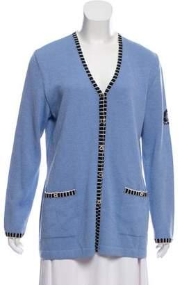 St. John Sport Wool Knit Cardigan