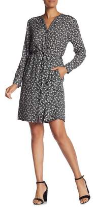 Velvet by Graham & Spencer Floral Print Shirt Dress
