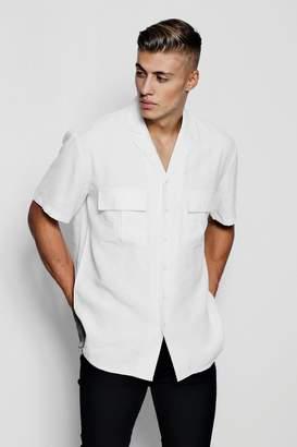boohoo Short Sleeve Boxy Utility Shirt